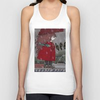 freud Tank Tops featuring At the Harbor by Judith Clay