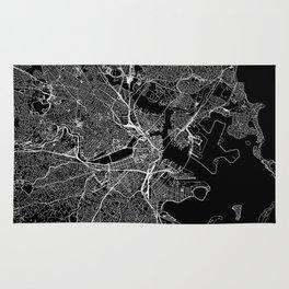 Boston Black Map Rug