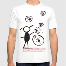 Bubble Monsters MEDIUM White Mens Fitted Tee