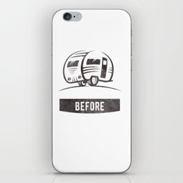 Camping nature Shirt - Adventure before dementia iPhone Skin