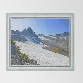 SUMMER'S LAST SNOWMELT WATER Throw Blanket