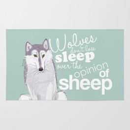Wolves and Sheep Rug