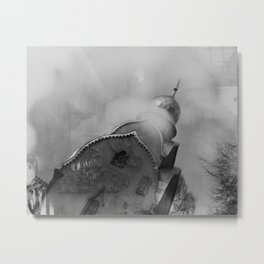 Church. Reflection. Novodevichy convent. Moscow. Metal Print