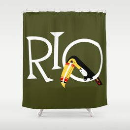 Travel to Rio Shower Curtain