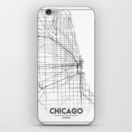 Minimal City Maps - Map Of Chicago, Illinois, United States iPhone Skin