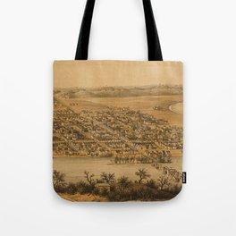Vintage Pictorial Map of Fredericksburg VA (1863) Tote Bag