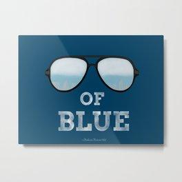 Shade's Of Blue Metal Print