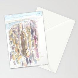 Midtown Manhattan Skyscraper Scene New York City Stationery Cards