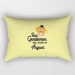 Real Gentlemen are born in August T-Shirt Dciii Rectangular Pillow