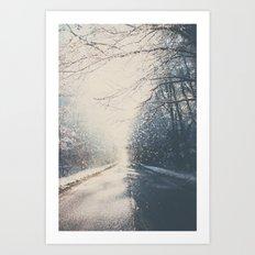 driving home for christmas ...  Art Print