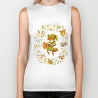 animals Biker Tanks featuring The Legend of Zelda: Mammal's Mask by Teagan White