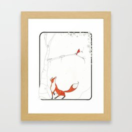 The snow Framed Art Print