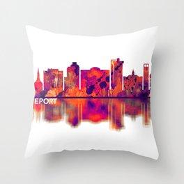 Bridgeport Connecticut Skyline Throw Pillow
