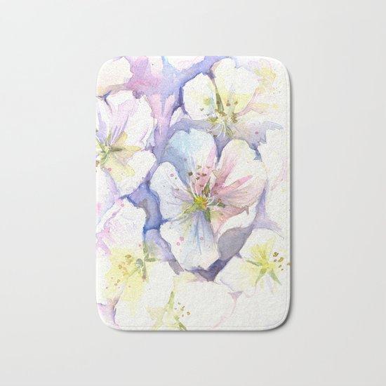 Cherry Blossoms Flowers Spring Floral Bath Mat