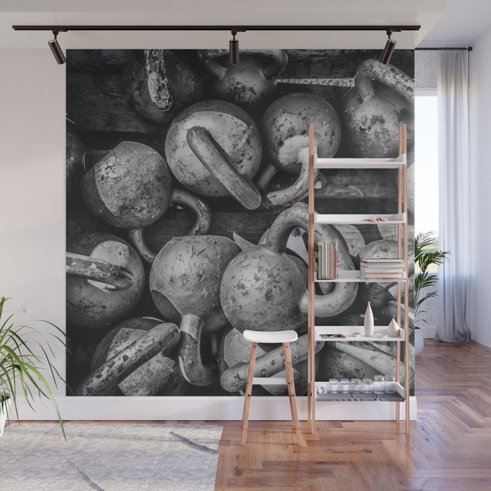 Crossfit fitness gym background Wall Mural by arianeart