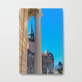 Subotica's city hall and national theatre Metal Print