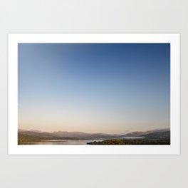 Autumn Sunrise over lake Windermere Art Print