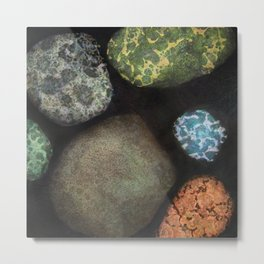Particles and Pores Metal Print
