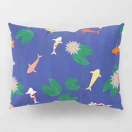 Koi Fish in a Pond Pillow Sham