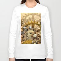 steampunk Long Sleeve T-shirts featuring steampunk by Ancello