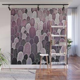 Purple Mermaid Scales Wall Mural