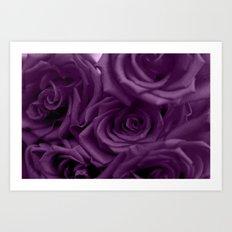 Bed of Roses - Purple Art Print