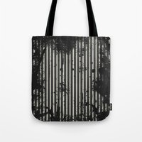 stripe Tote Bags featuring Stripe by Ronda Bröc
