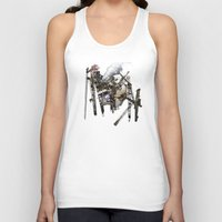 truck Tank Tops featuring Monster Truck by Jonathan Sims