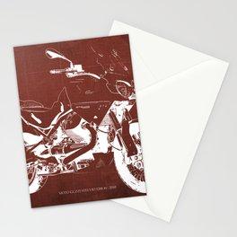 2010 Moto Guzzi Stelvio 1200 4V red blueprint Stationery Cards