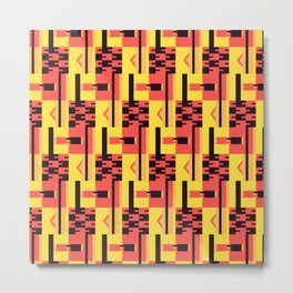 Kente Pattern Design Metal Print