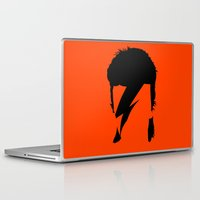 bowie Laptop & iPad Skins featuring BOWIE by eve orea