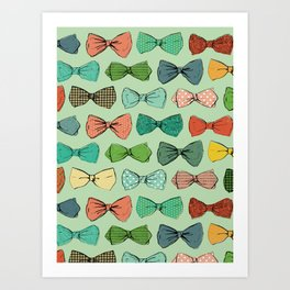 All the Bow Ties Art Print
