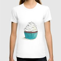 cupcake T-shirts featuring Cupcake by HurlinghamRoadStudio