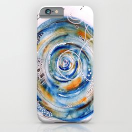 Discovering What We Care About Abstract Watercolor iPhone Case