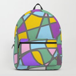 Stain Glass Abstract Meditation Easter Painting Backpack