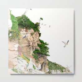 Ligurian Coastline Metal Print