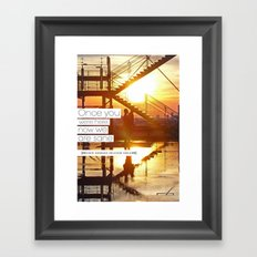 Once You Were Here, Now We Are Sane Framed Art Print