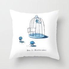 Blueberrdies Throw Pillow