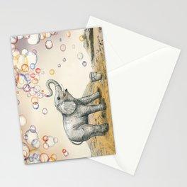 Elephant Bubble Dream Stationery Cards