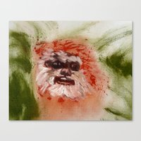 ewok Canvas Prints featuring Ewok by Catherine Johnson