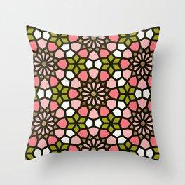 Persian Mosaic – Pink & Sage Palette Throw Pillow