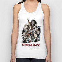 conan Tank Tops featuring Conan by CromMorc
