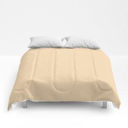 Neutral Bright Beige - Tan - Khaki Solid Color Parable to Pantone Cornhusk 12-0714 Comforters