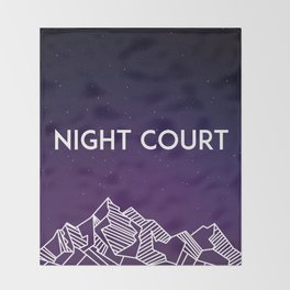 Night Court Throw Blanket