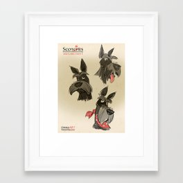 Scottie sketches Framed Art Print