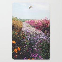 field of flowers Cutting Board