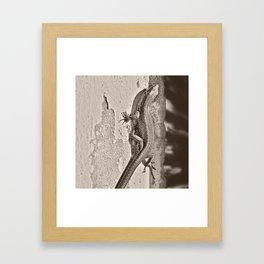 Tailing Framed Art Print