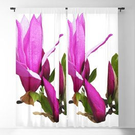 Rosy spring Magnolia Blackout Curtain