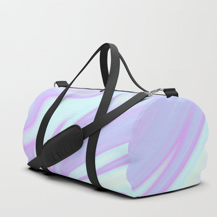 Unicorn Goo Liquid Holographic Texture Duffle Bag By Julieerindesigns