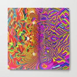 Worlds Collide Metal Print
